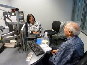 Jerry Witkovsky and Regine Schlesinger at WBBM