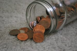 Pennies teach money to young kids