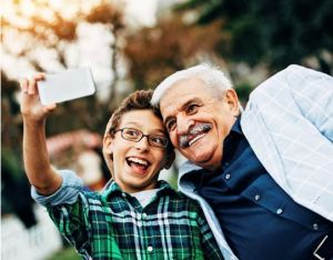 Teen Selfie with Grandpa