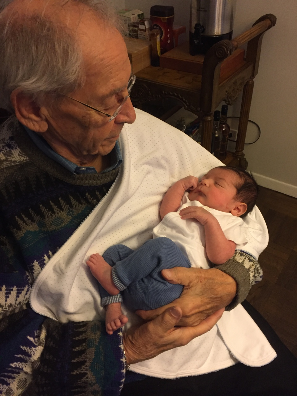 Jerry Witkovsky with Grandson